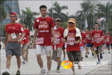 """图文:""""我是冠军""""广州赛区 坚持就是胜利"""