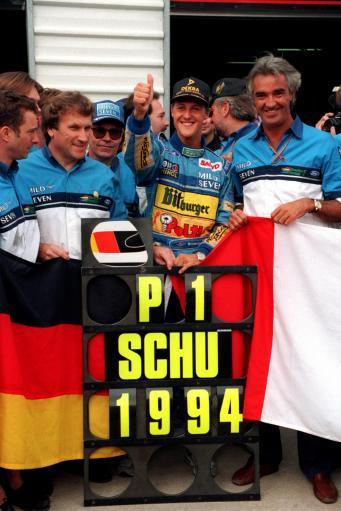图文:舒马赫职业生涯 1994年在澳洲夺得总冠军
