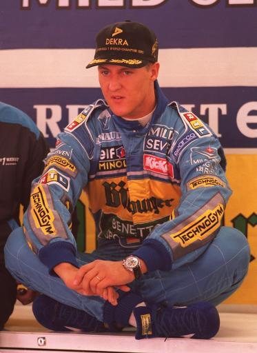 图文:舒马赫职业生涯 1995年澳大利亚站前休息