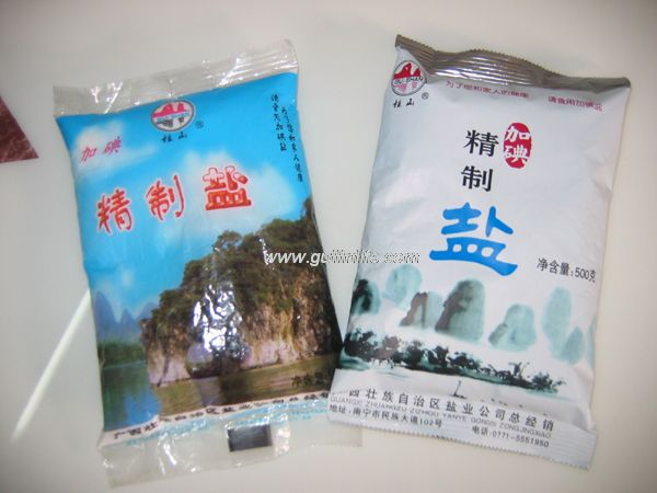 铝塑小包装食盐桂林上市 500克包装每袋1.30元