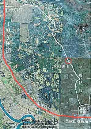 网上出现国道收费站逃费地图 记者实地体验通过
