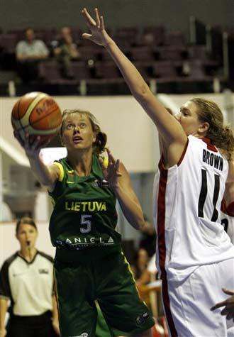 世锦赛图:立陶宛大胜加拿大 布莱德凯特上篮
