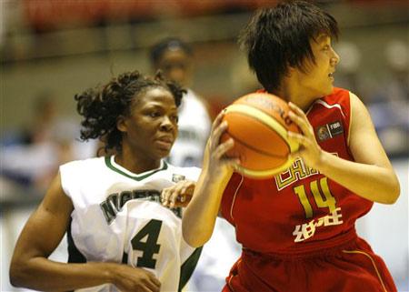 世锦赛图:中国女篮VS尼日利亚 陈楠伺机妙传
