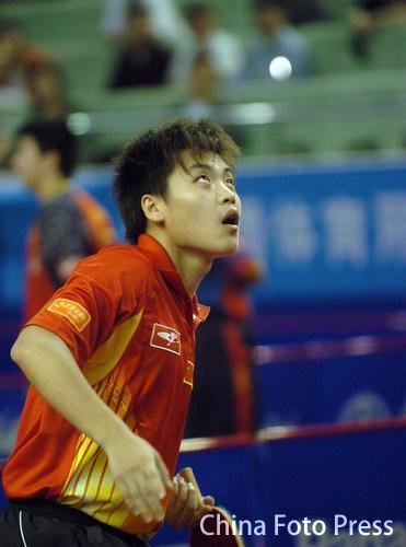 图文:中国乒乓球大奖赛 陈杞4-1战胜高宁