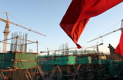 图文:探营国家体育馆工地 建设中的体育馆工地