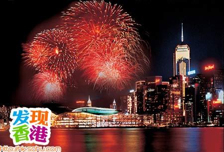 烟花耀维港 国庆发现香港最佳烟火观赏地(图)