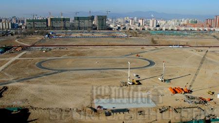 图文:鸟瞰见证鸟巢建设 开工前的施工现场