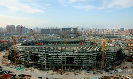 图文:鸟瞰见证鸟巢建设 混凝土结构工程完工