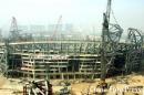 图文:鸟巢建设历程 2006年3月6日鸟巢己显雏形