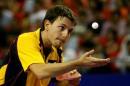 图文:中国乒乓球公开赛落幕 波尔全神贯注