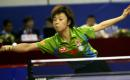 图文:中国乒乓球公开赛落幕 张怡宁在比赛中