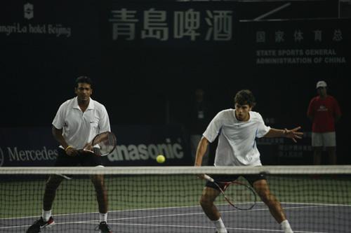 图文:中网男双上演决赛 安西奇顾帕蒂双双出击