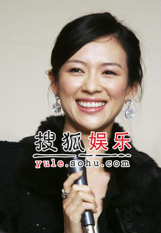 《夜宴》韩国记者会 章子怡亮相笑靥如花(图)