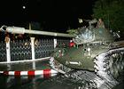 曼谷皇宫周围的坦克