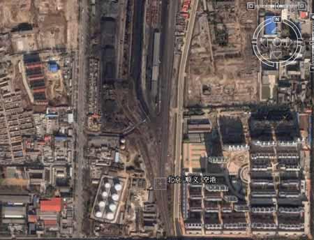 google卫星地图上的北京顺义空港