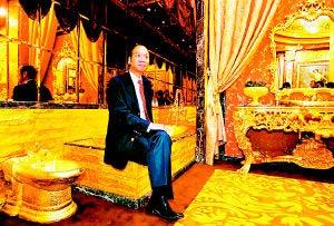 香港珠宝商2.5吨黄金造宫殿 一晚租金20万(图)