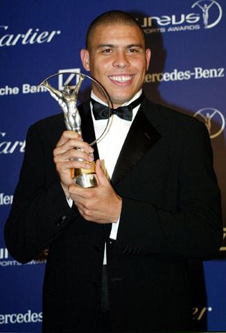 图文;罗纳尔多当选劳伦斯世界最佳复出运动员