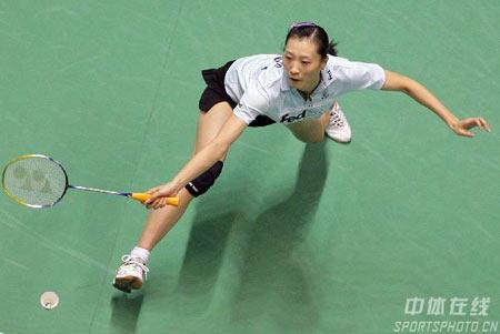 羽毛球世锦赛逆转对手 张宁顺利跻身女单半决赛