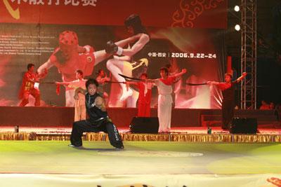图文:第三届武术散打世界杯 武者表演精湛武术