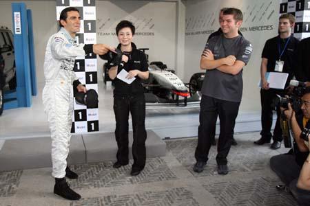 德拉罗萨试过上赛道 称上海的哥都能参加F1(图)