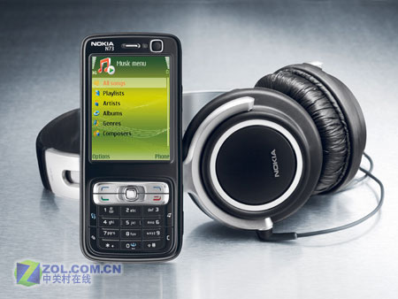 """2GB容量""""蔡司""""黑色诺基亚N73音乐版发布"""