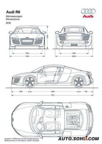 跑车的又一次全新概念 奥迪R8亮相巴黎