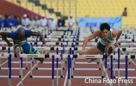韩媒体:刘翔速度惊人 大邱奇迹般再次逆转对手