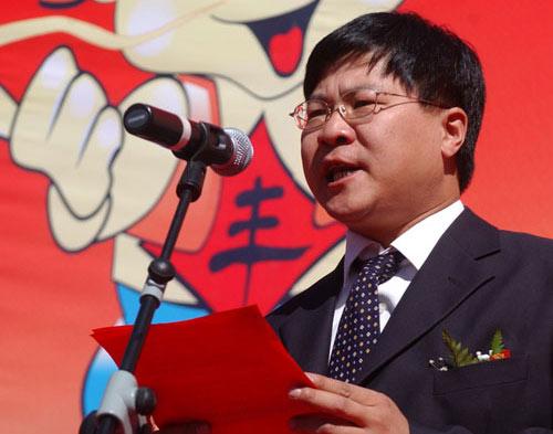 密云县旅游局局长郭立新在开幕式上致词