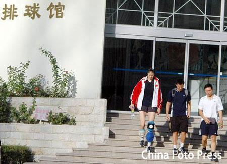 图文:女排世锦赛开赛在即 赵蕊蕊恢复状况不错