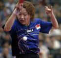 图文:女乒世界杯四强产生 新加坡选手李佳薇
