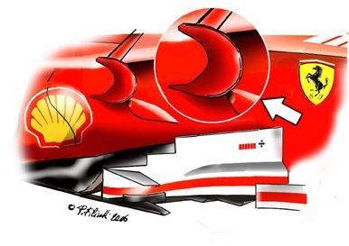 法拉利248 F1 – 增加'牛角翅翼'