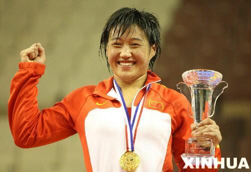 组图:27届世界摔跤锦标赛 中国选手景瑞雪夺金