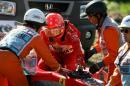 图文:舒马赫遭遇爆缸退赛 退出比赛