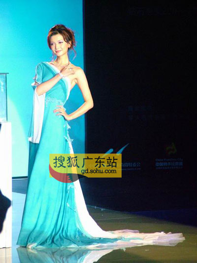 名模姜培琳为800万钻饰凸点出镜(图)