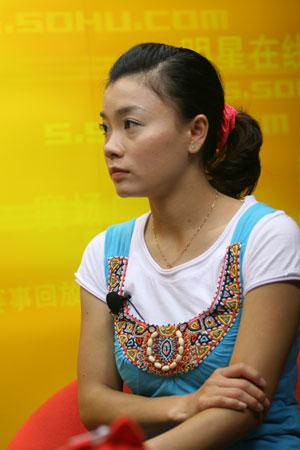 图文:莫慧兰韩乔生做客搜狐体育 分析中国体操