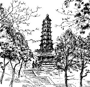香山琉璃塔图片