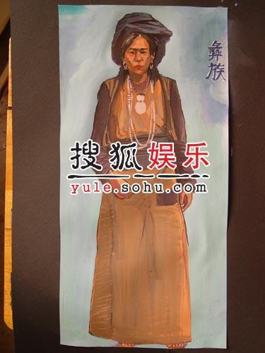 电影《我的长征》人物造型-彝族