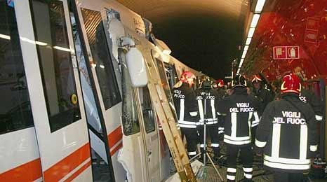 罗马地铁相撞事故:受伤华人属轻伤已出院(图)