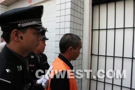 图文:邱兴华杀人案今日庭审现场