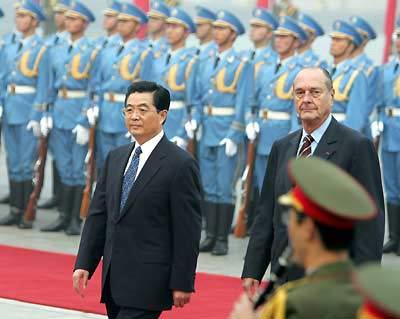 希拉克今日访华 称法国地位部分取决于对华关系