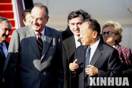 希拉克称世界前途在很大程度上取决于中国(图)