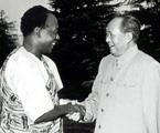 毛泽东会见来访的加纳共和国总统
