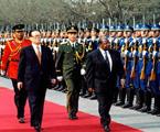 1998年国家主席江泽民欢迎坦桑尼亚总统姆卡帕