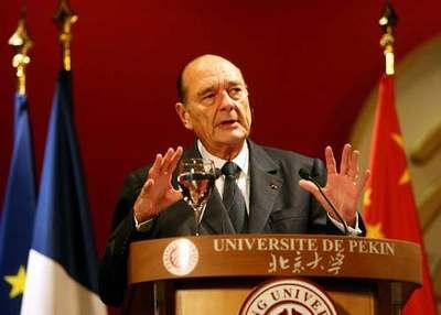 希拉克称中国构建和谐社会可参考法国信念模式