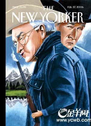 以布什及副总统切尼模仿电影《断背山》海报的封面,获选