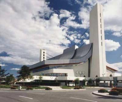图文:奥体中心内由霍英东捐资兴建的英东游泳馆