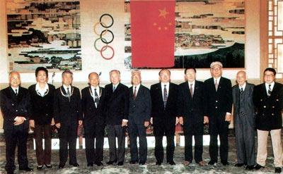 图文:霍英东与前国际奥委会主席萨马兰奇