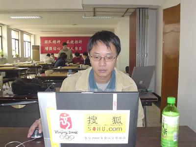 组图:国家队棋手关注LG杯8强战 刘菁正在线讲解