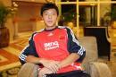 图文:U19亚青中国VS澳大利亚 于大宝接受采访