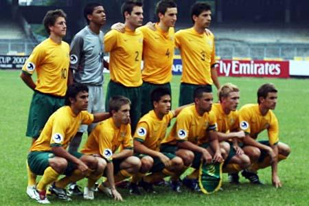 图文:亚青赛中国1-0澳大利亚 澳队首发阵容
